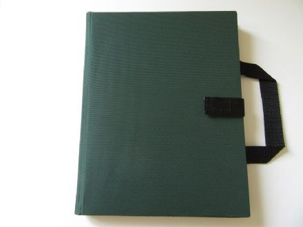 A4 Communication Book: 12 Pocket Pages - Bottle Green